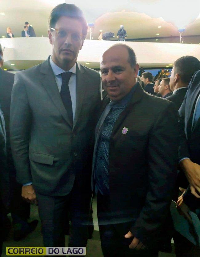 Prefeito Guilherme Pivatto com Ricardo Salles, Ministro do Meio Ambiente