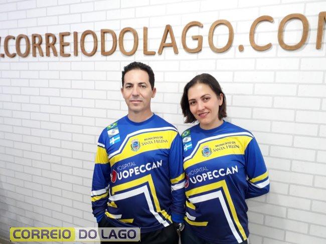 O Zico (Jones Machado) e sua esposa Janaína, visitando a redação do CL.